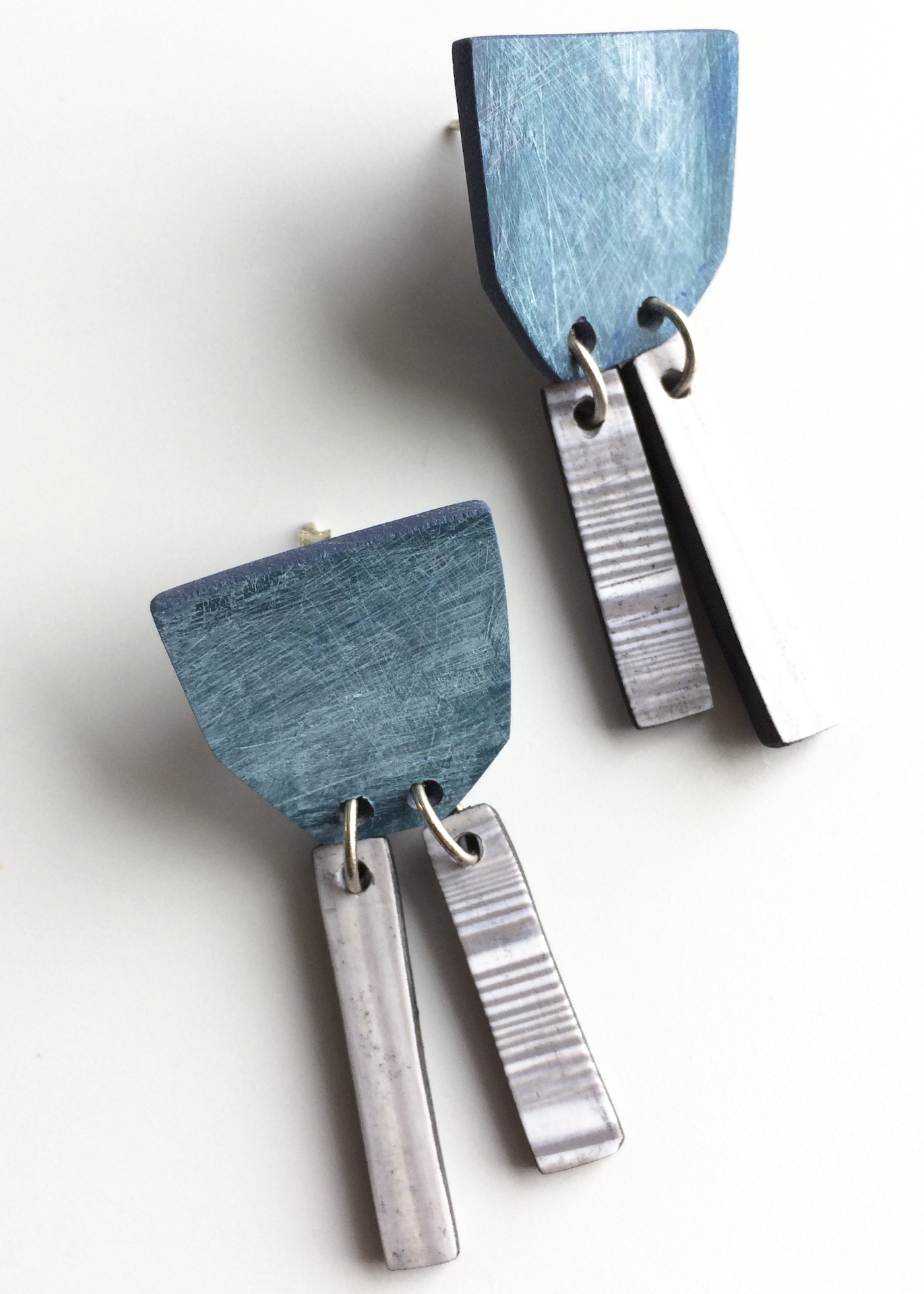 recycled polymer earrings