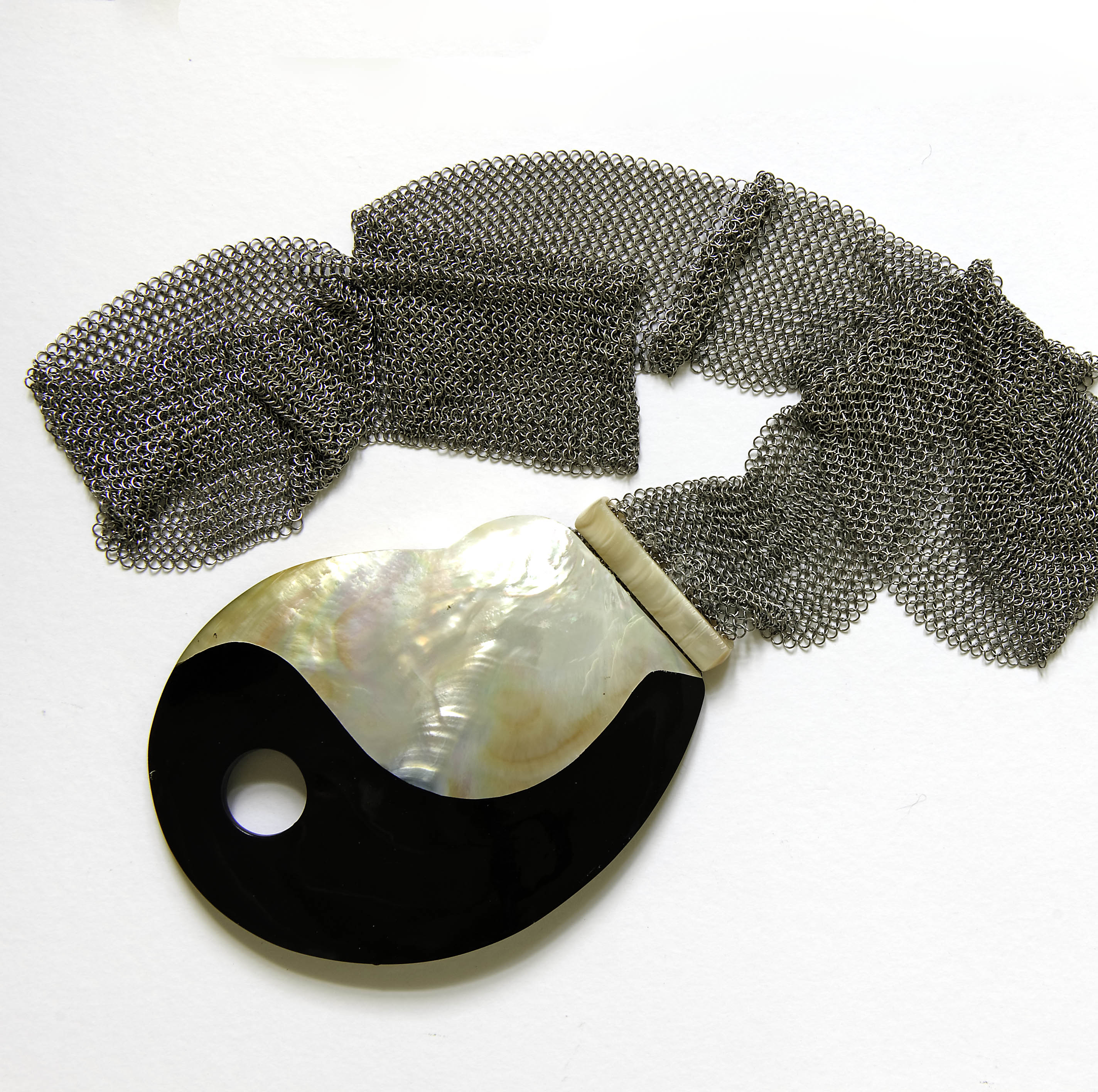 mesh and shell jewelry