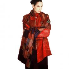 Hand woven and dyed silk jacket