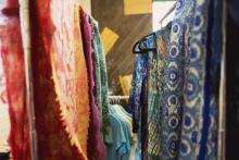 colorful alpaca fibers