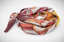 hand painted batik silk chiffon scarf