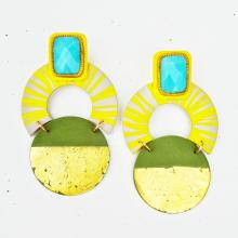 bright round earrings