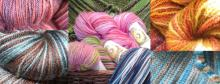 multi-colored yarns