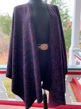 purple patterned alpaca drape