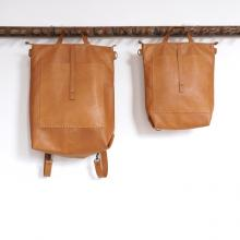 Two brown leather bags