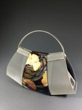 evening purse made of stainless steel mesh