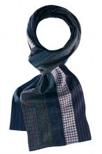 Looped multicolored scarf