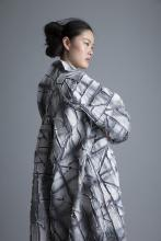 Hand-dyed sustainable linen coat