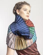 colorful accordion neck wrap