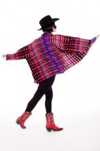 Colorful woven poncho