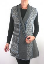grey vest with subtle pattern