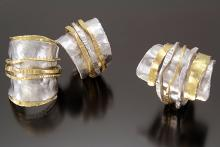 Three cuff bracelets