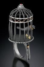 Bird cage ring