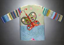 colorful childrens jacket embroidered with a butterfly