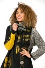 Yellow Barcelona Jacket with Infinity Twist Scarf