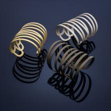 cuffs of varying metals