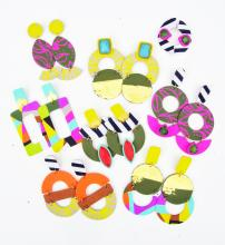 collection of colorful earrings