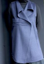 Blue wool vest