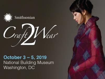 Craft2Wear banner with images from participating artists: hats, jewelry, clothing